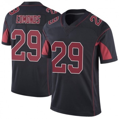 Men's Nike Arizona Cardinals Chase Edmonds Color Rush Vapor Untouchable Jersey - Black Limited