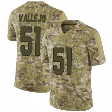 Men's Nike Arizona Cardinals Tanner Vallejo 2018 Salute to Service Jersey - Camo Limited