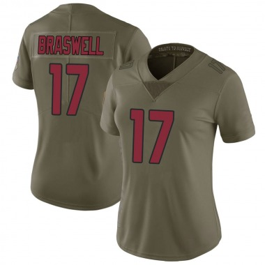 Women's Nike Arizona Cardinals Jermiah Braswell 2017 Salute to Service Jersey - Green Limited